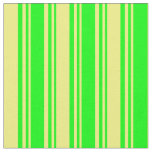 [ Thumbnail: Lime & Yellow Stripes Fabric ]