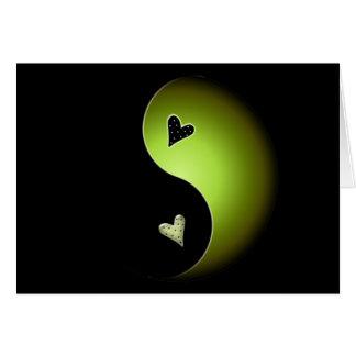 lime yin yang card
