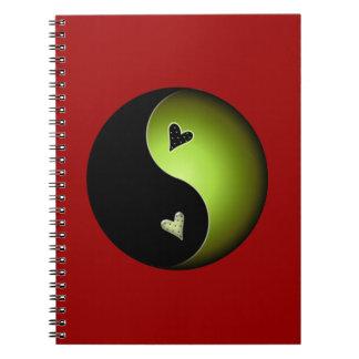 lime yin yang notebook