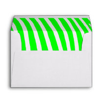 Lime Zebra Stripes Envelope