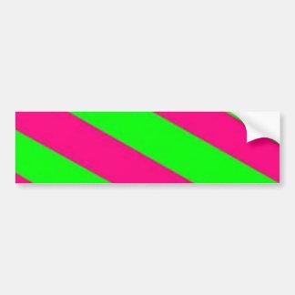 limegreen-hotpink pegatina de parachoque