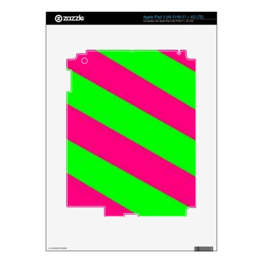 limegreen-hotpink skins for iPad 3