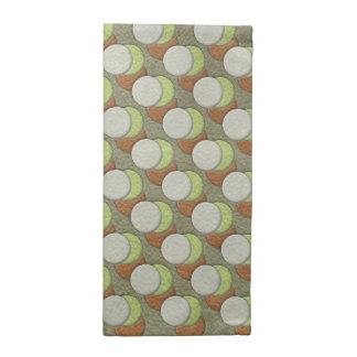 LimeGreen Polka Dots on Khaki Leather Texture Printed Napkins
