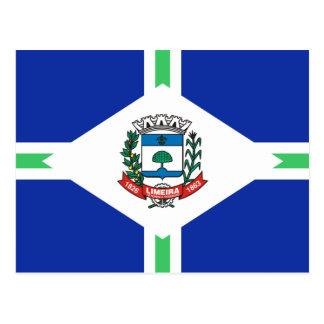 Limeira Saopaulo Brasil, Brazil flag Postcard
