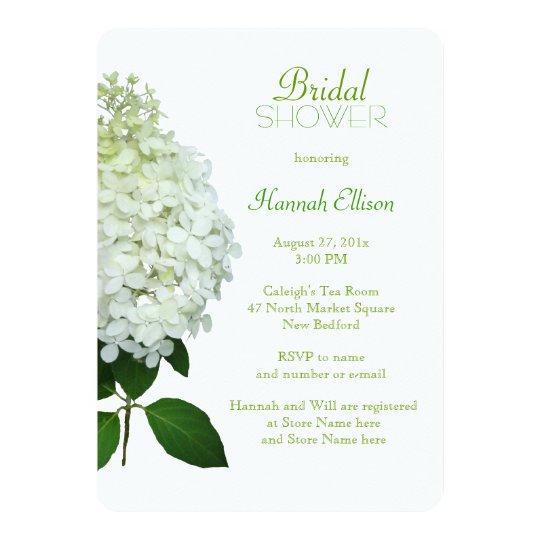 limelight hydrangea bridal wedding shower invitation