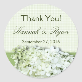 Limelight Personalized Round Wedding Favor Label Classic Round Sticker