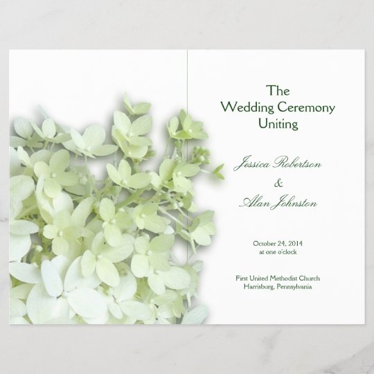 limelight white folded wedding program template zazzle com