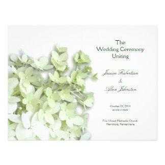 Limelight White Folded Wedding Program Template
