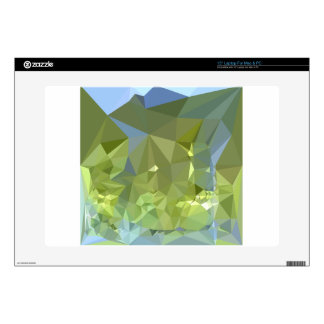 "Limerick Green Abstract Low Polygon Background 15"" Laptop Skin"