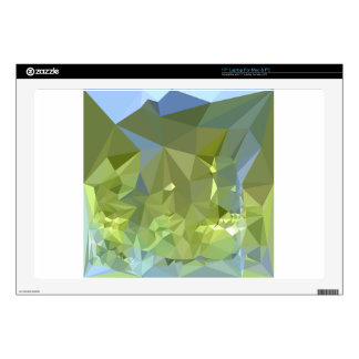 "Limerick Green Abstract Low Polygon Background Decals For 17"" Laptops"
