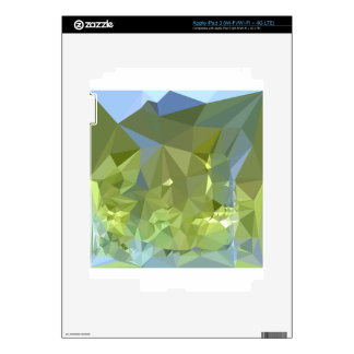 Limerick Green Abstract Low Polygon Background iPad 3 Skin