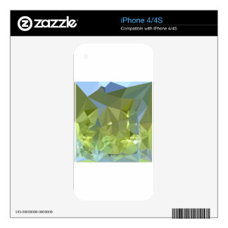 Limerick Green Abstract Low Polygon Background iPhone 4 Decal