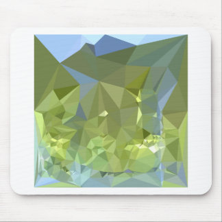 Limerick Green Abstract Low Polygon Background Mouse Pad