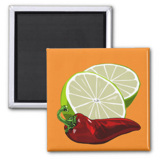 Limes and Chile magnet