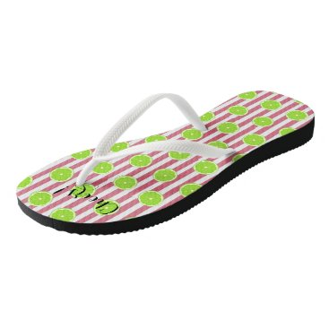 McTiffany Tiffany Aqua Limes And Nantucket Red Fiesta Party Flip Flops
