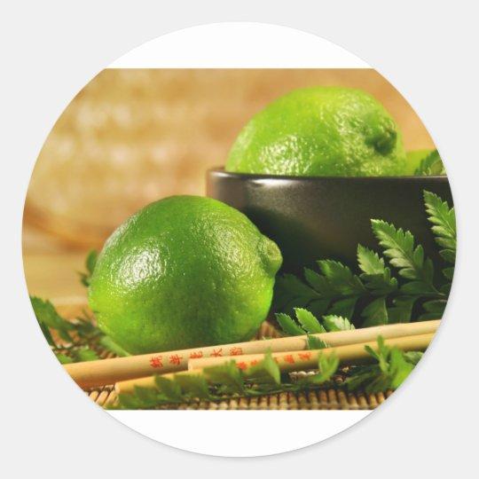 Limes Classic Round Sticker