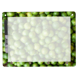 limes dry erase board with keychain holder