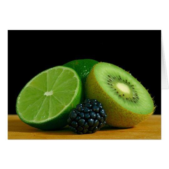 Limes Kiwis Berry Berries Card