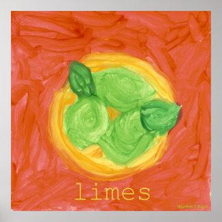 Limes ~ Original Children's Art Poster