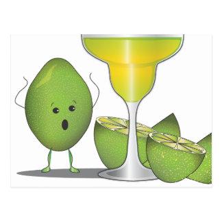Limes Sacrifice for Margaritas Funny Postcard