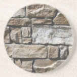 Limestone Bricks Beverage Coaster
