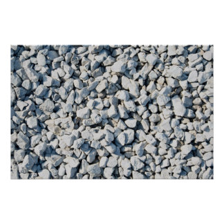 Limestone chippings print
