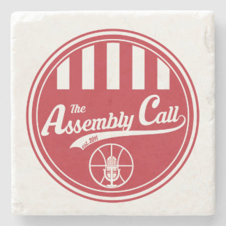 Limestone Coaster with Assembly Call logo