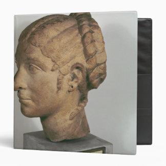 Limestone head of a Woman Binder