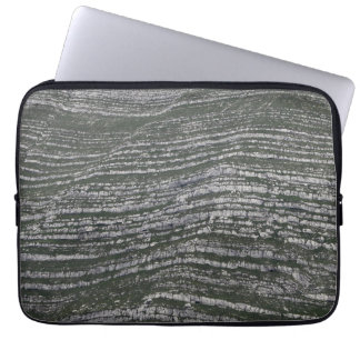 Limestone layers in the Austrian Alps Laptop Sleeve