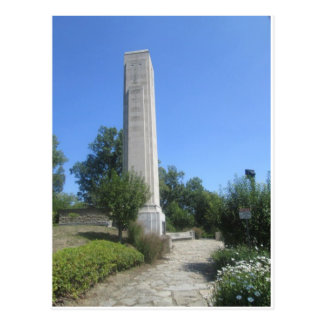 Limestone obelisk, William Henry Harrison Tomb Postcard