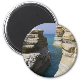 Limestone Rocks Rocks On Corfu Island 2 Inch Round Magnet