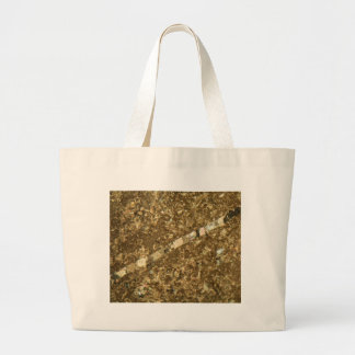 Limestone under the microscope large tote bag