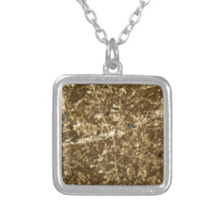 Limestone under the microscope silver plated necklace
