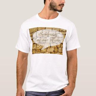 Limestone wall and bad Geology joke T-Shirt