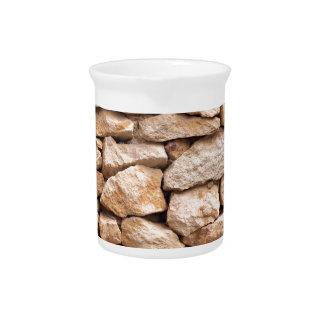 limestone wall beverage pitcher