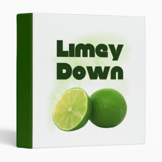 Limey Down 3 Ring Binder