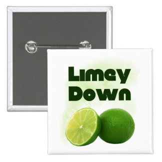 Limey Down Pinback Buttons