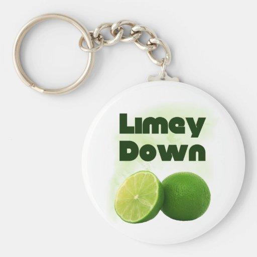 Limey Down Keychain