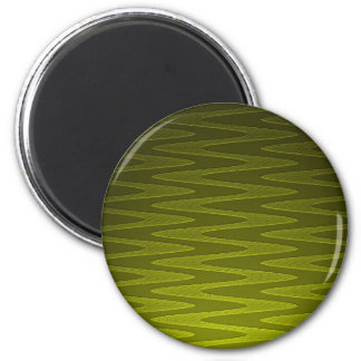 Liminous Olive Green Zigzag Pattern Magnet