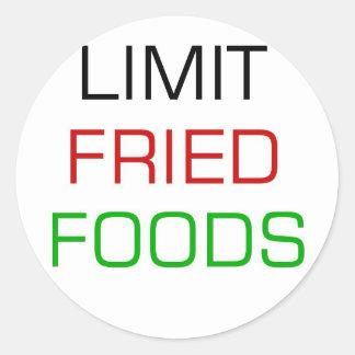 LIMIT FRIED FOODS 2 ROUND STICKER