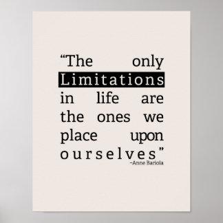 Limitaciones Póster