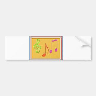 Límite a sonar bueno - símbolos de música de baile etiqueta de parachoque