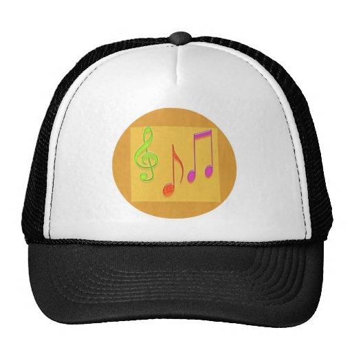 Límite a sonar bueno - símbolos de música de baile gorras