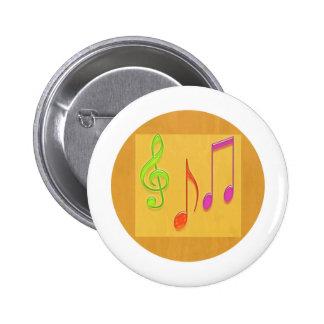 Límite a sonar bueno - símbolos de música de baile pin redondo 5 cm