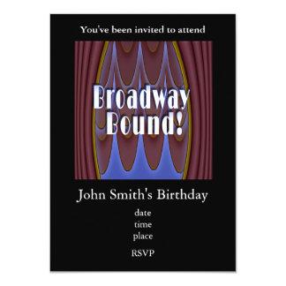"""¡Límite de Broadway! Invitación 4.5"""" X 6.25"""""""