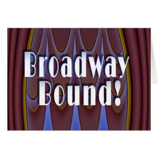 ¡Límite de Broadway! Tarjeta De Felicitación