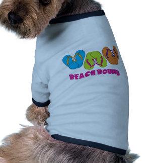 Límite de la playa de los flips-flopes ropa de perros