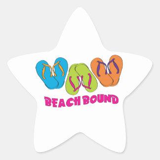 Límite de la playa calcomanías forma de estrella personalizadas