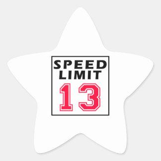 Límite de velocidad 13 diseños del cumpleaños colcomania cuadrada