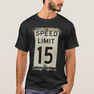 Límite de velocidad 15 MPH Playera